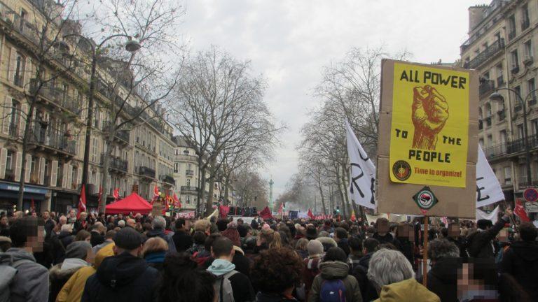 (DE/FR) Tag der Mobilisation gegen die Rentenreform und die liberale und repressive Politik der französischen Regierung