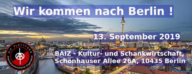 Wir kommen nach Berlin!