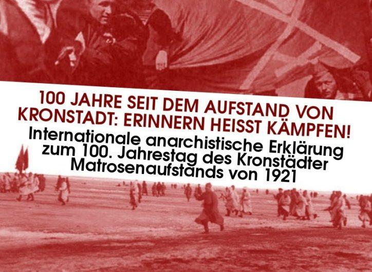 100. Jahrestag des Kronstädter Matrosenaufstands /              100 Years Since the Kronstadt Uprising